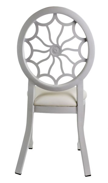 Tonic Banquet Chair - White, Back